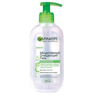 Garnier Skin Naturals, Micellar Cleansing Gel for Sensitive Skin, 200 ml