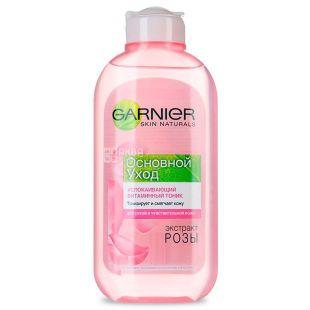Garnier Skin Naturals тонік Основний догляд, для сухої та чутливої шкіри, 200 мл