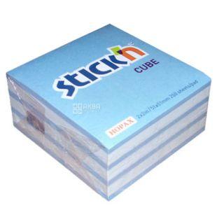 Hopax Зебра, Блок клейкого біло-блакитного паперу, 50x50 мм, 250 аркушів