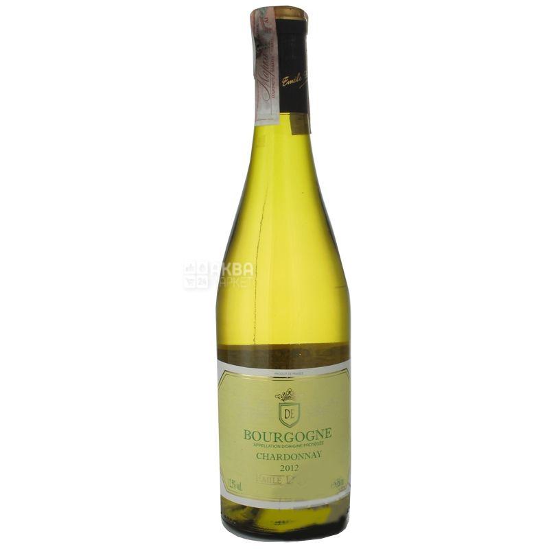 Emile Durand Bourgogne Chardonnay Вино белое сухое, 0,75 л
