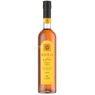 Gurji De Luxe brandy, 3 stars, 0.5 l