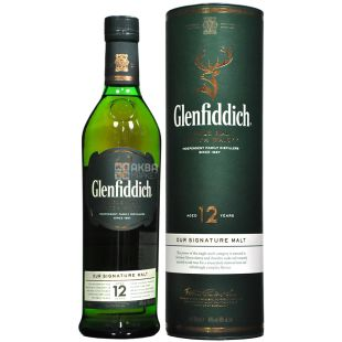 Glenfiddich 12 Years Old Whiskey 0.7l