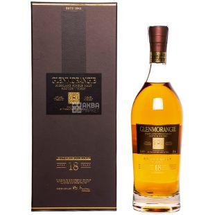 Виски Glenmorangie, 18 лет, 43%, 0,7л, в подарочной коробке