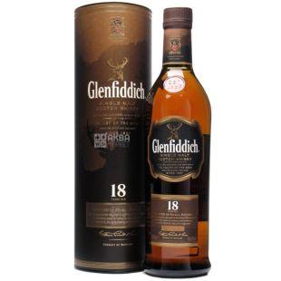 Виски Glenfiddich 18 y.o. в тубусе 0,7л