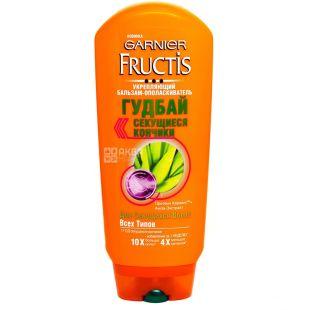 Garnier Fructis, Бальзам, Гудбай секущиеся кончики, для секущихся волос, 200 мл