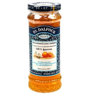 Джем St. Dalfour (Сент Далфур) Апельсин и имбирь, 284 г, стекло