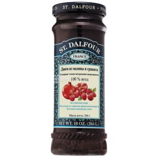 Gem St. Dalfour (Saint Dalfour) Raspberry and Pomegranate, 284 g, glass