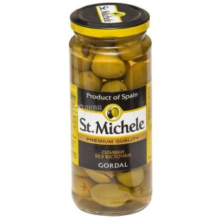 Pitted Olives, St. Michele, variety Gordal, 340 g