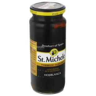 Маслини без кісточки, St. Michele, сорт Охібланка, 340 г