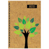 Wound Notebook Eco A6 Tree, cell, 80 l.