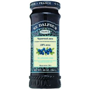 Gem St. Dalfour (Saint Dalfour) Blueberry, 284 g, glass