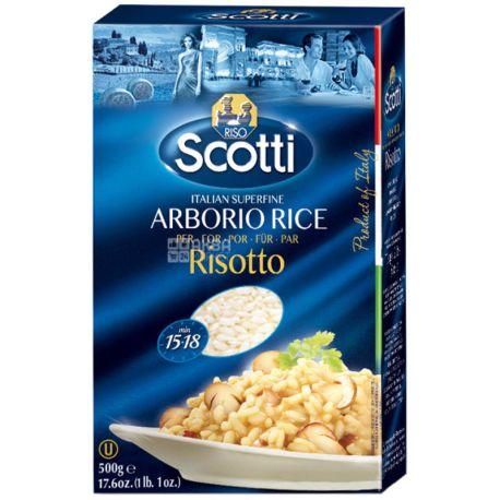 Scotti Arborio Risotto, 500г, Скотти, Рис Арборио для ризотто