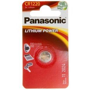 Panasonic батарейка літієва CR 1220 BLI 1