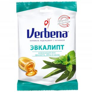 Verbena, Lollipops, Eucalyptus with Herbs and Vitamin C, 60 g