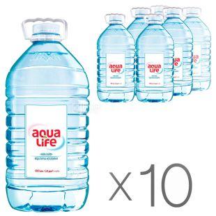 Aqua-Life, Вода негазированная, 5л, ПЭТ, упаковка 10 шт.
