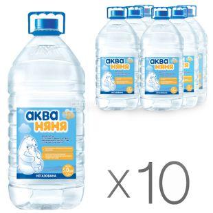 Аква Няня, Вода негазована, 5 л, ПЕТ, упаковка 10 шт.