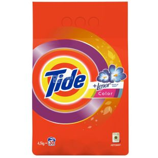 Tide Lenor Touch of Scent Color, washing powder, automatic, 4.5 kg