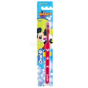 Зубна щітка Oral-B Mickey, для дітей, 2-4 роки, екстра м'яка, 1 шт