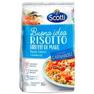 Scotti, Risotto fruti di mare, 210 г, Скотти, Смесь для ризотто, белый рис с морепродуктами