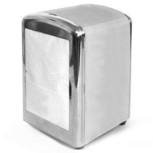 Диспенсер для салфеток 17x17 см, металлик