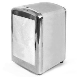 Dispenser for napkins 17x17 cm, metallic