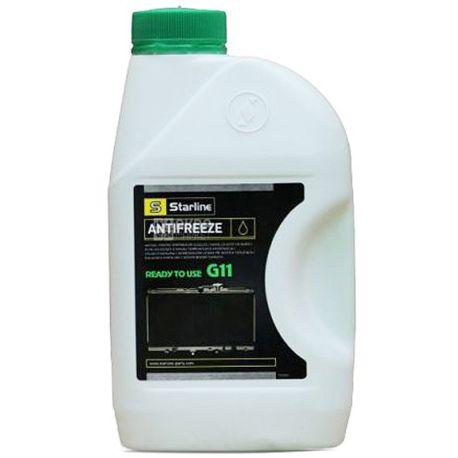 Starline G11 Антифриз -40С зеленый, 1л, канистра