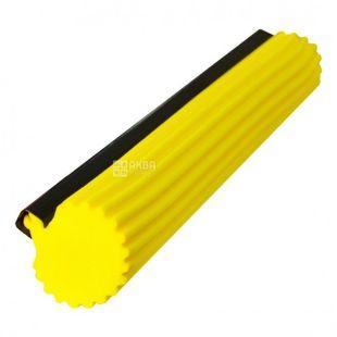 Губка SUPERMOP, для швабры Мой Дом, желтая, 27 см