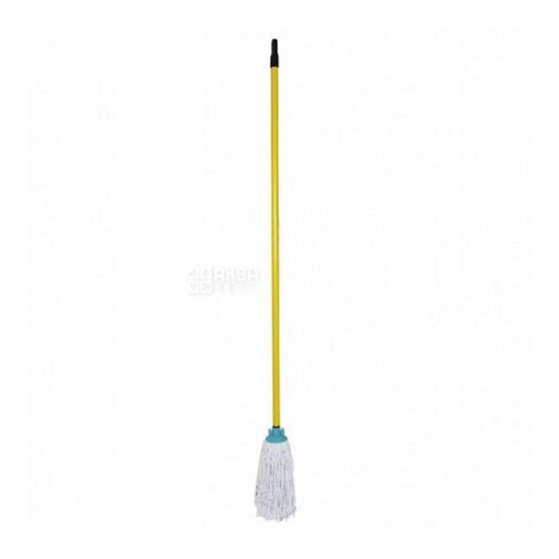 Швабра Мой Дом, хлопковая с ручкой, 250 г, 110 см
