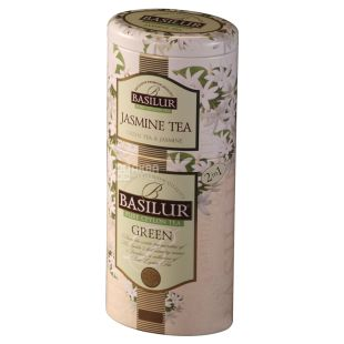 Basilur Flowers and Fruits of Ceylon, Tea 2 in 1 green and jasmine, 125 g