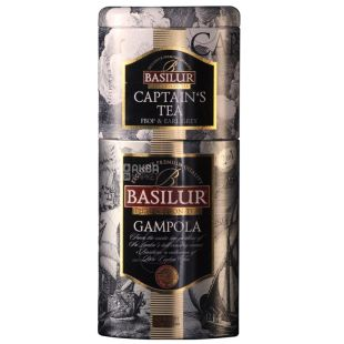 Basilur Flowers and fruits of Ceylon, Black tea 2 in 1 Gampola and Captain, 125 g