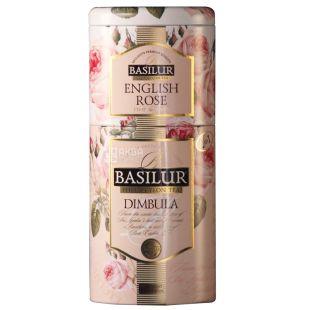Basilur English Rose, Dimbula, 125 г, Чай Базілур, Англійська троянда і Дімбула, чорний, ж/б