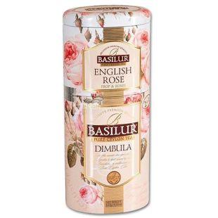 Basilur English Rose, Dimbula, 125 г, Чай Базилур, Английская роза и Димбула, черный, ж/б
