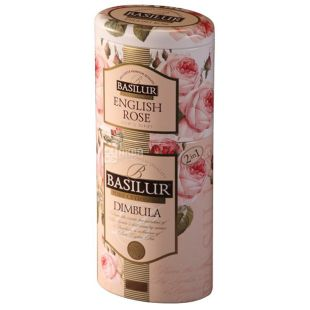Basilur Flowers and fruits of Ceylon, Black Tea 2 in 1 Dimbula and English Rose, 125 g