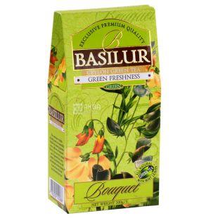 Basilur Green Freshness Bouquet, Green Tea, 100 g