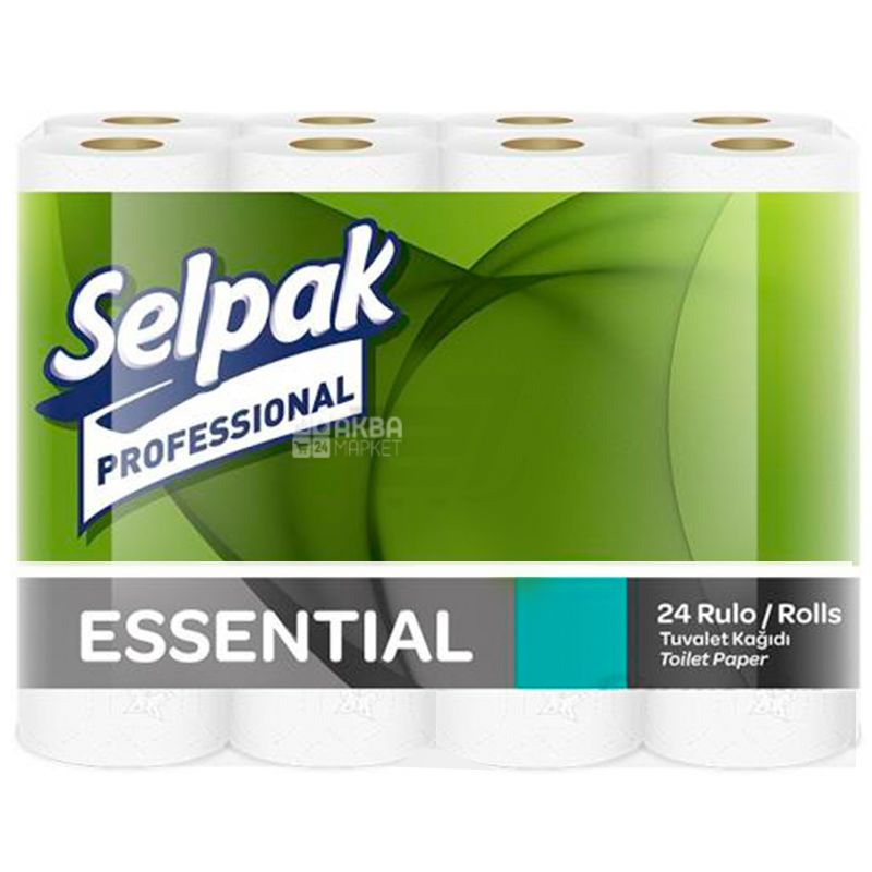 Toilet paper, Selpak Professional Essential, double-layered, 24 pcs.