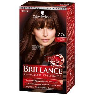 Brillance 874 Бархатный Каштан, краска для волос, 142.5 мл