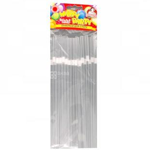 Straws for drinks, Transparent, Packaging 25 pcs, TM Assistant
