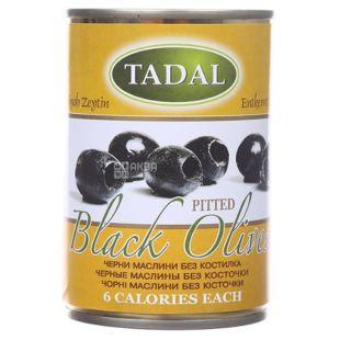 TADAL, Маслины черные без косточек, 280 г