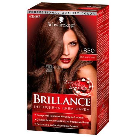 Brillance 850, Крем-краска для волос, Венецианская ночь, 142.5 мл