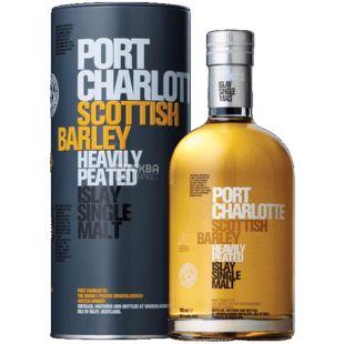 Виски, Bruichladdich Port Charlotte 50%, 0,7 л, тубус
