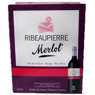 Ribeaupierre, Мерло, Вино красное сухое, 3 л