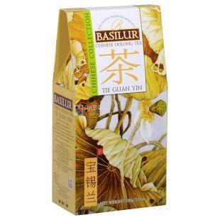 Basilur Tie Guan Yin, 100 г, Чай Базілур, китайський зелений, оолонг