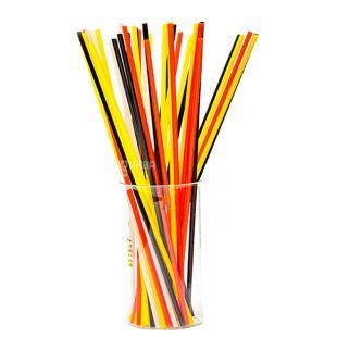 Мікспак, Трубочки для мохіто неонові кольори, 26,5 см, 300 шт.