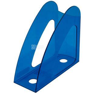 Buromax Веселка, Лоток для паперів вертикальний блакитний, пластик