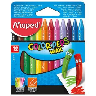 Crayons wax, 12 pcs, TM Maped
