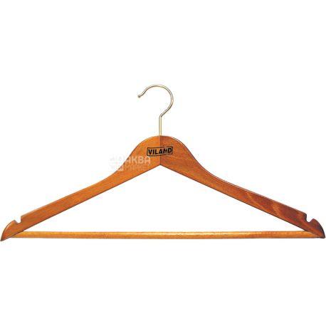 Вішак Viland, для костюмів, бук, 44х1.3 см