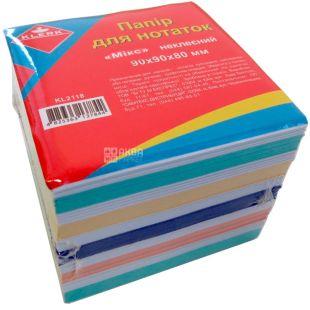 Klerk, Блок паперу різнокольоровий, 90*90*80 мм, плівка