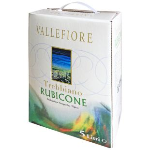 Vallefiore Trebbiano, Dry white wine, 5 L