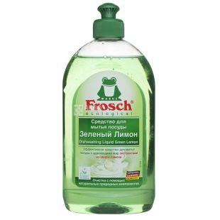 Frosch Зелений лимон, Бальзам для посуду, 500 мл