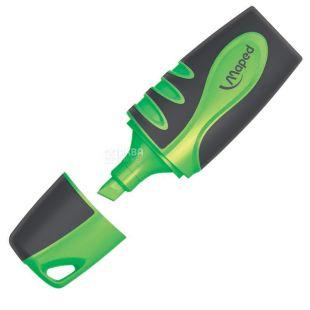 Maped Fluo Peps Soft, Маркер Мапед Софт, текстовый, Зеленый, 1 шт.